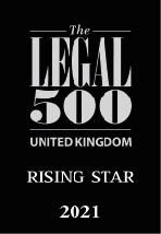 The Legal 500 - Rising Star 2021 Logo