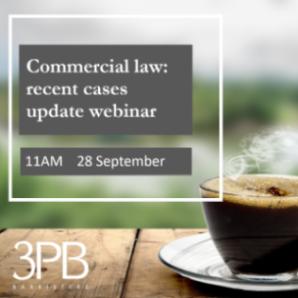 Commercial law webinar 28 September 2021