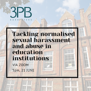 Tackling normalised sexual harassment and abuse in education institutions