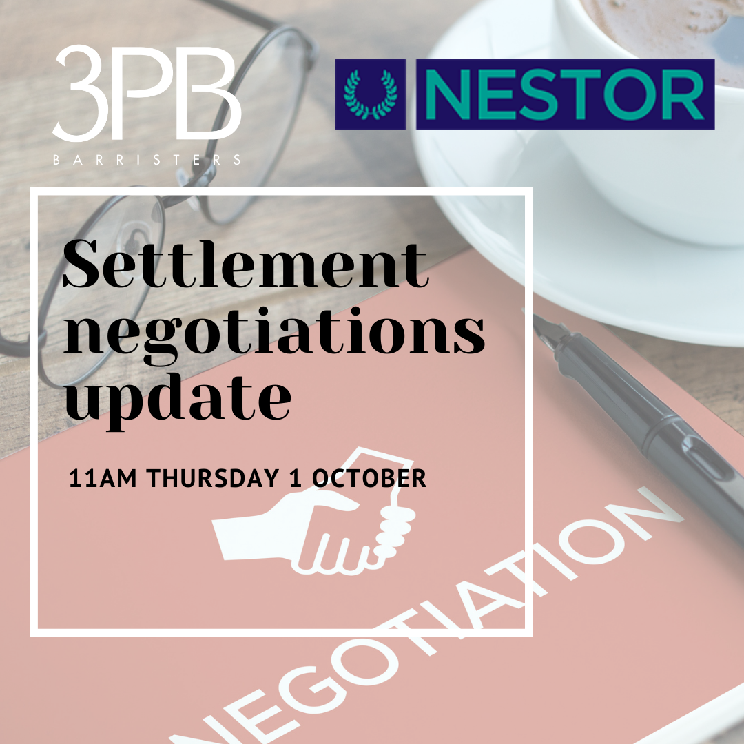 Settlement negotiations update Oct 2020