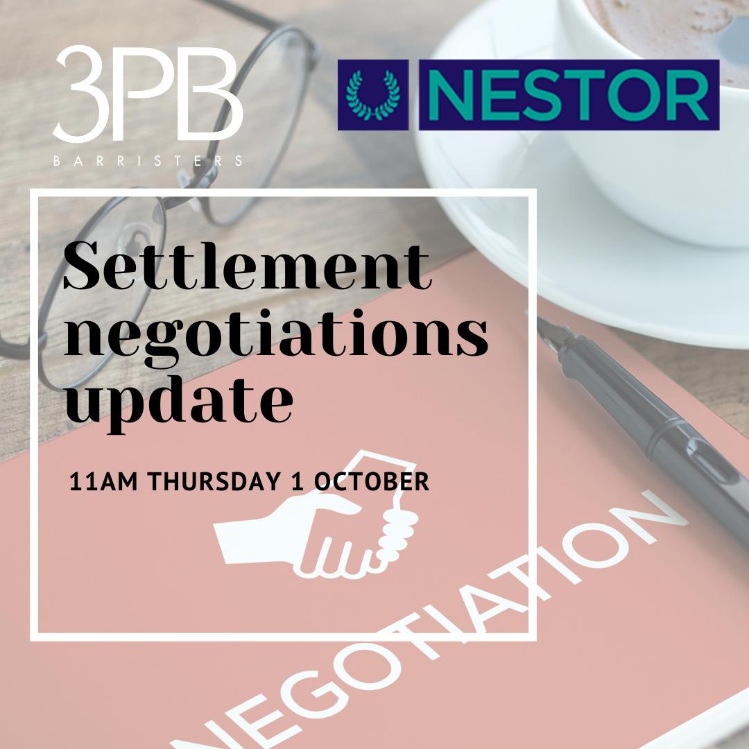 Settlement negotiations update Oct 2020