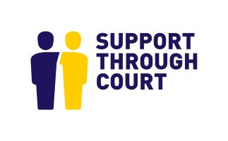 support through court blue text on white background 323